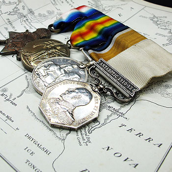 Antarctic and WWI Medal Quartet