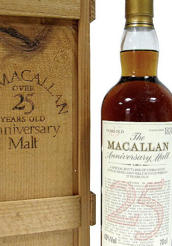 Whisky; The Macallan Anniversary Malt, Over 25 Years Old