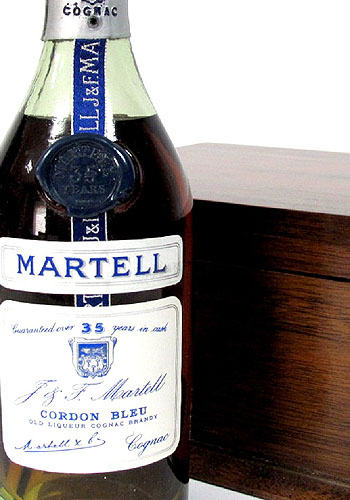 Spirits; Martell Cordon Bleu Cognac, smaller size bottle